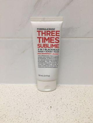 [FORMULA 10.0.6] Three Times Sublime Wash + Scrub + Mask