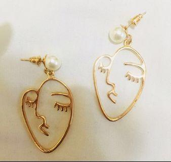 NEW Abstract Face Earrings / Anting 2