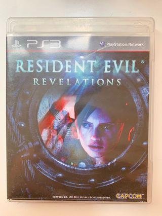 PS3 game 遊戲  Resident Evil Revelations Biohazard 喪屍