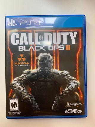 PS4 game 遊戲 Call of duty black ops