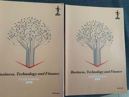 ICAEW Certificate level Business, Technology and Finance 2018