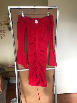 Knit dress with pull up string size 10