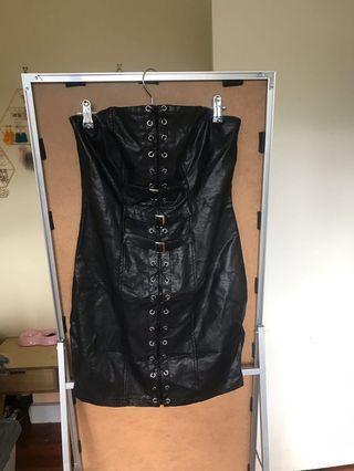 Fake leather dress size 10