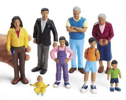 Brand New In Box Hispanic Family Pretend Play Figurines