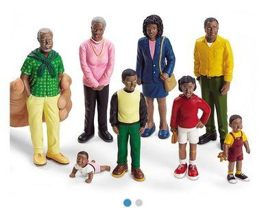 Brand New In Box African American Family Figurines (8s)