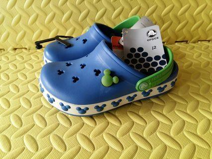 Crocs - (藍色 - Size 4C5) Little Kids' Crocband Mickey Mouse Clog
