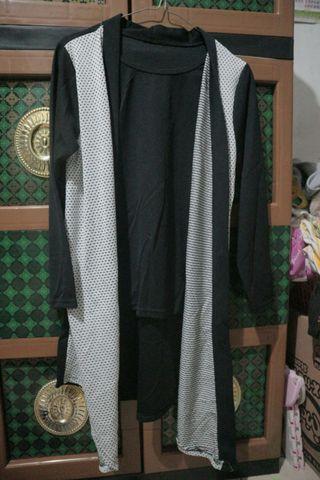 Baju + cardigan, baku + outer