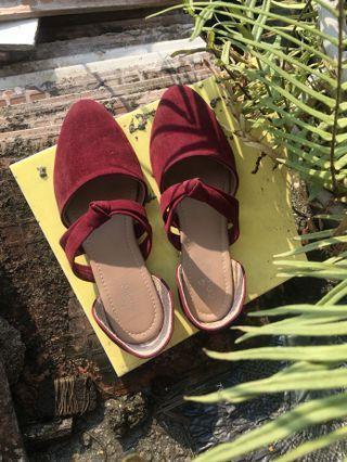 Cerelia Maroon Shoes