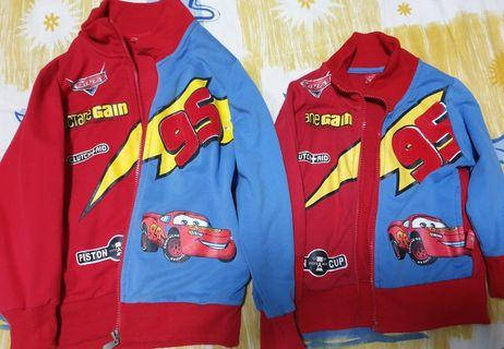 🚚 Matching Lightning mcqueen Jacket. Size 95 and 130. 2 for $16