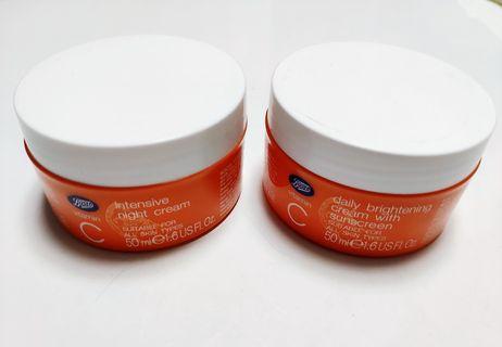 Boots Vitamin C daily brightening daily cream & incentive night cream