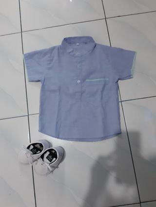 Baju Koko Anak in Sea Blue (Baju Only)