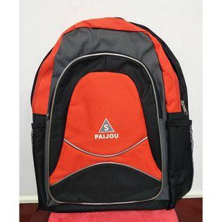 PAIJOU 進口專櫃 橘黑色後背包-新品