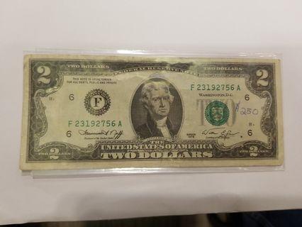 1976年兩美元