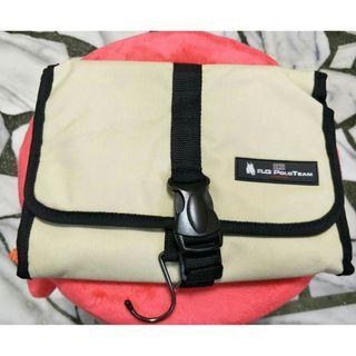 🚚 R.Q POLO TEAM 米白色收納包 旅行包 盥洗包-新品