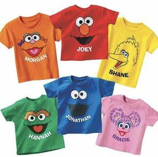 Sesame Street Kids T Shirts [CUSTOMIZABLE]