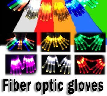 LED glowing gloves