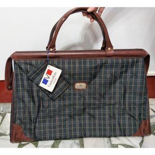 🚚 VaaleenKino 格紋旅行手提包 旅行包 側背包(含背帶)(附小包包) (原價1080)-新品
