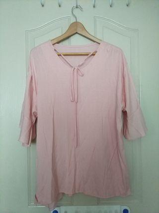 Plus Size sweet pink blouse