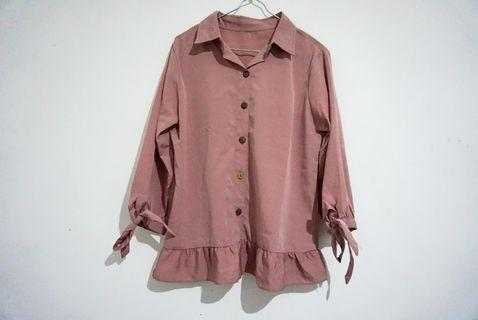 Kemeja Cute Pasteliciouse Dusty Pink
