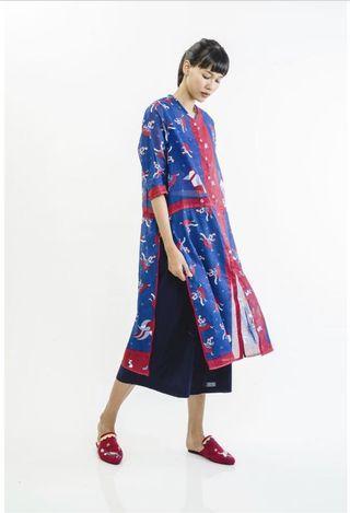 (SEWA) Sejauh Mata Memandang Baju Panjang 1000 Timun - Biru Merah