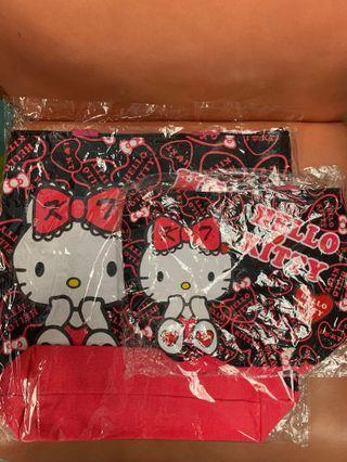 一套 Hello Kitty 布袋&飯袋