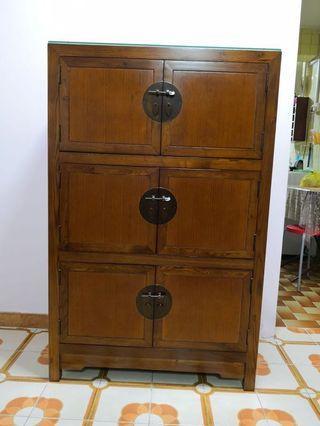 Solid Elm Wood Cupboard