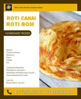 Frozen roti boom and roti canai