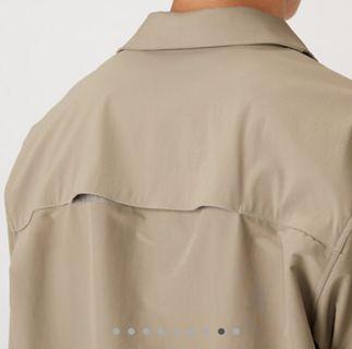 🚚 潑水加工雙口袋卡其襯衫