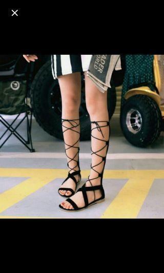 ➡(NO INSTOCKS!)Preorder korean Gladiator Sandal lace up shoes *waiting time 15 days after payment is made *pm to order