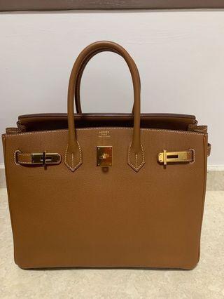 Hermes Birkin 35 Gold Togo with GHW
