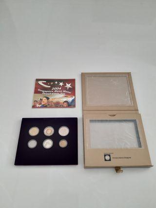 2004 Singapore Base Metal Proof Coin Set