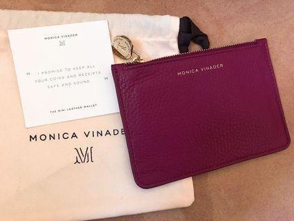 Monica Vinader purple red leather card holder wallet coins bag small pouch dior joyce lane crawford arte carat pandora 名牌靚紫紅色真皮卡片包 銀包仔 散銀包 手飾袋