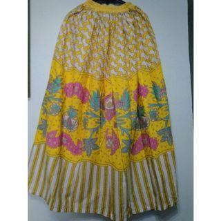 Batik Skirt rok batik kuning