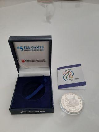 $5 SEA Games 1993 Silver Proof Coin