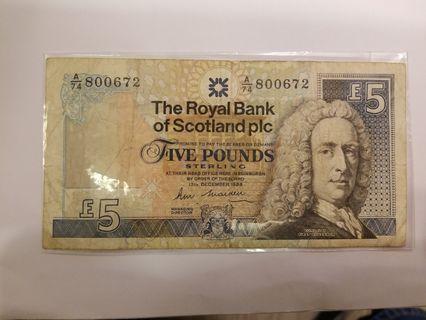 1988年皇家蘇格蘭5鎊