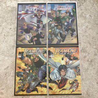 $20 for 4 connecting comics Team One Wild Cats