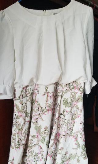 白色斯文裙