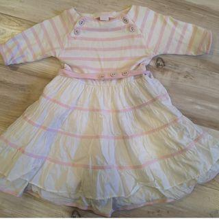 Chateau de Sable - Pink and White Striped Dress (Toddler Size)