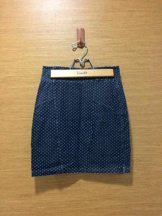 🚚 COTTON ON Bodycon Mini Skirt - polka dot grey