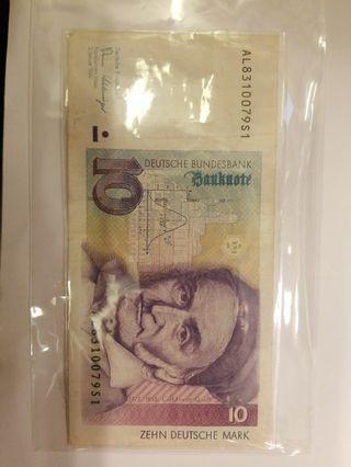 1989年德國10馬克