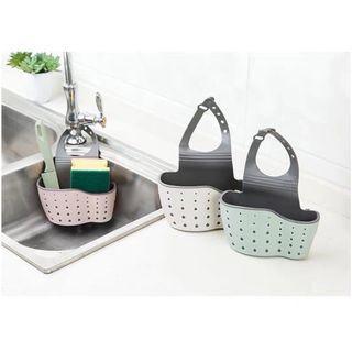 3 colours Kitchen bathroom sink tap sponge vanity organiser brush toothbrush storage organizer holder tray