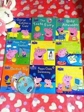 📌Ladybird Peppa Pig - 20 Books attached with 1 CD & 1 DVD