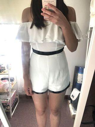 White Playsuit | Size 6