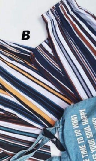 Shireen kulot stripe