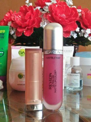 Bundle / Paket Maybelline Lipstick + Revlon Lipcolor