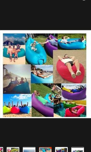 Fast inflatable portable sofa (blue)