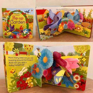 💗Usborne pop-up dinosaur and pop-up garden💗 2 Books