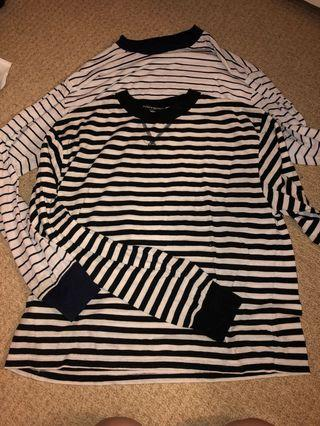 Brandy stripped long sleeves one size