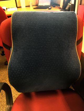 Office chair back support cushion pillow