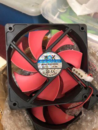 High RPM computer fan casing